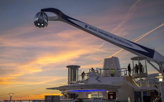 O Noth Star é uma atração  encontrada nos cruzeiros da Royal Caribbean que faz o viajante ficar de boca aberta
