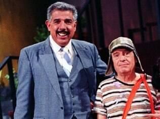 Rubén Aguirre e Roberto Gómez Bolaños, criador e protagonista da série