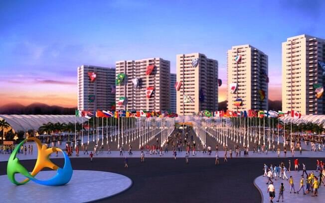 A Praça das Bandeiras, na Zona Internacional  da Vila Olímpica, receberá as delegações para as  cerimônias de boas-vindas