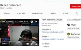 """""""Bolsokid"""": quarto filho de Bolsonaro tem canal no Youtube e transmite jogos"""