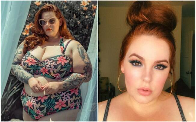 A modelo comenta que sofre gordofobia nas redes sociais, de