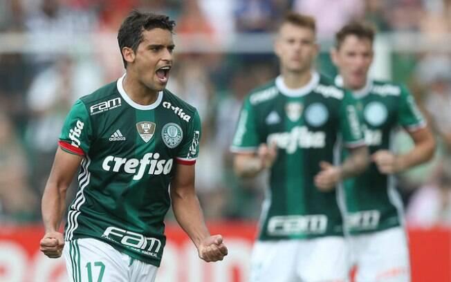 Jean comemora gol pelo Palmeiras