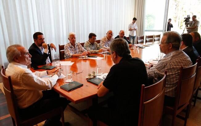 Presidente Michel Temer se reuniu com ministros e assessores no Alvorada para discutir greve de caminhoneiros