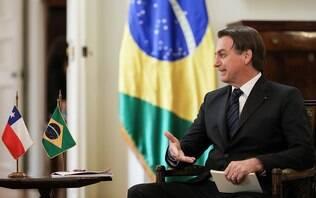 No Chile, Bolsonaro agradece 'venezuelanos' e aproveita gafe para cutucar Maduro