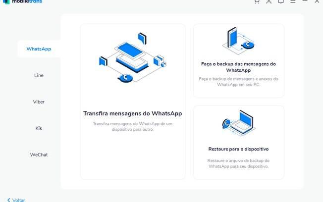 Imagem ilustrativa do processo de transferência de WhatsApp entre celulares