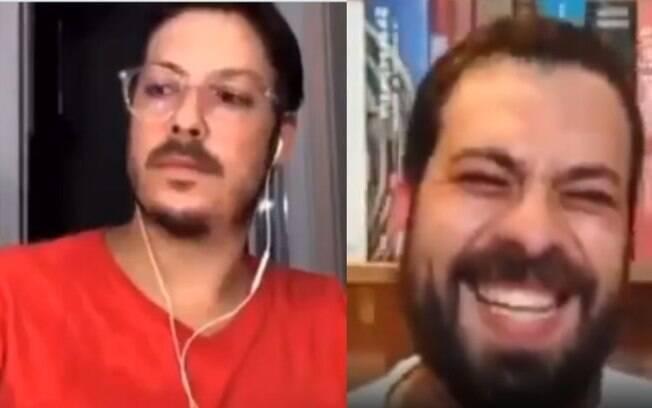 Fábio Porchat em live com Guilherme Boulos