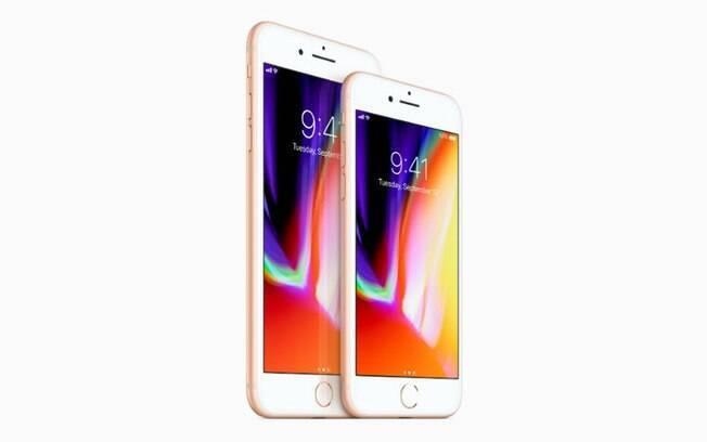 iPhone 8 e iPhone 8 Plus tem telas de 4,7 polegadas e 5,5 polegadas; celulares saem por a partir de US$ 699