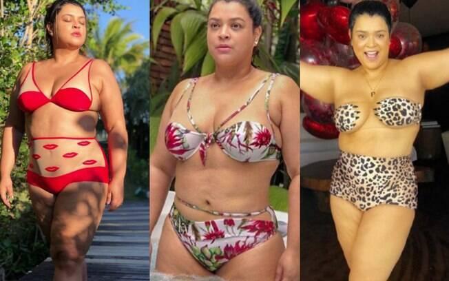 Assim como Gaby Amarantos, Preta Gil adora compartilhar fotos de biquíni e acaba inspirando outras mulheres