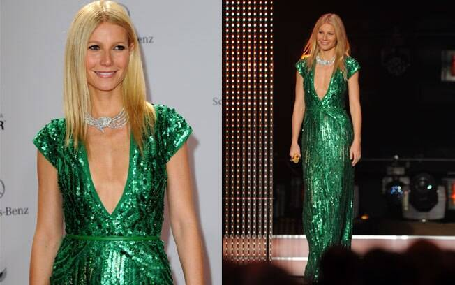 Gwyneth Paltrow e o megadecote no Bambi Award