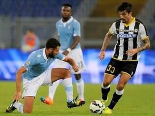 Francês Cyril Thereau marcou, aos 26 minutos, o gol da vitória da equipe de Údine
