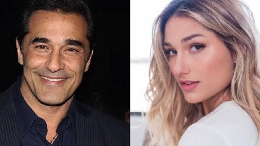 Sasha visita Luciano Szafir em hospital