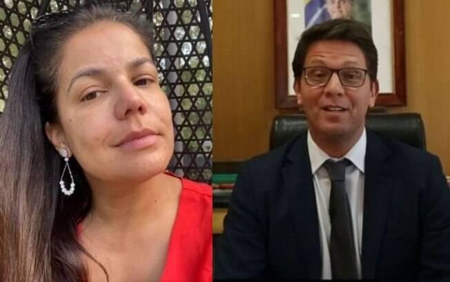 Nívea Stelmann e Mario Frias