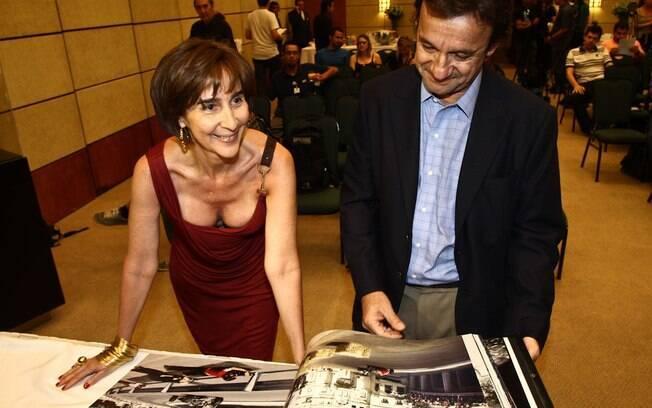 Viviane Senna também esteve presente no  lançamento do livro