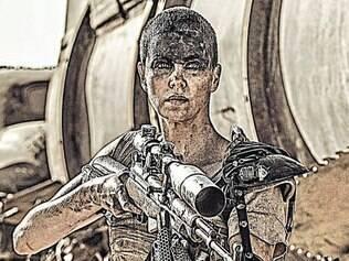 """No comando. Theron vive heroína de ação do filme, à la Ripley de """"Alien"""""""