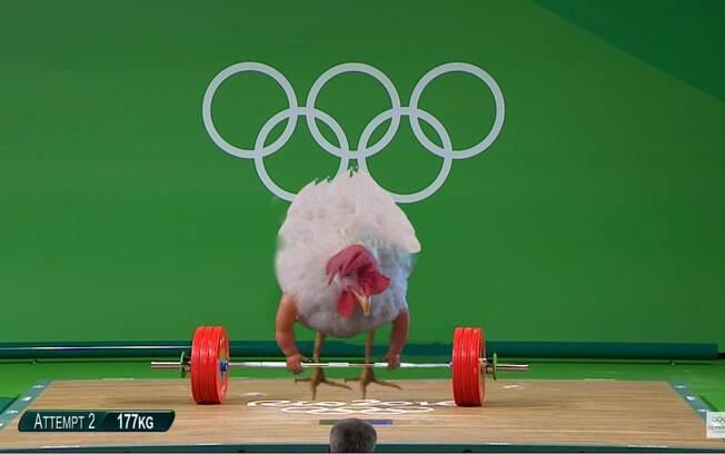 Montagem da galinha Sparkle feita pelos internautas