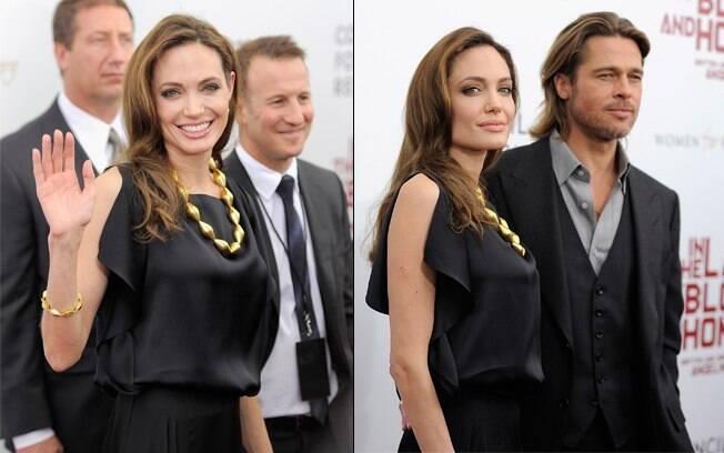 Angelina Jolie e Brad Pitt na première do