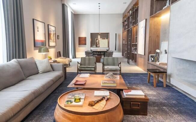 Francisca Reis, Carolina Grinberg e Guta di Pietro, do escritório Anexo Arquitetura, assinaram o Living e a Sala de Jantar