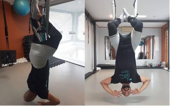 Pilates suspenso: a invertida promove a descompressão das vértebras da coluna