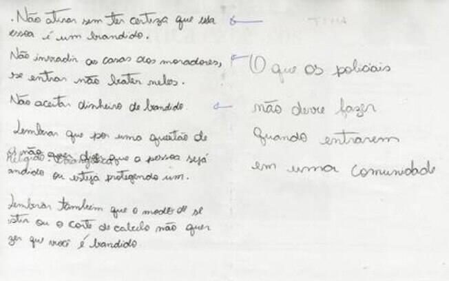 Crianças escrevem cartilha para o governador