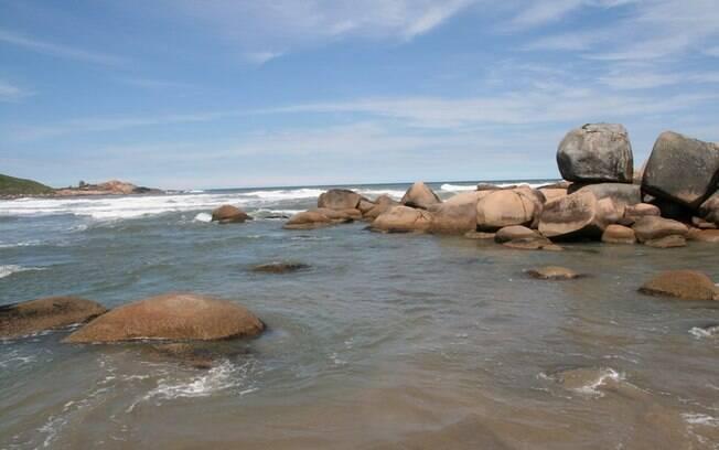 Praia do Gravatá, em Laguna