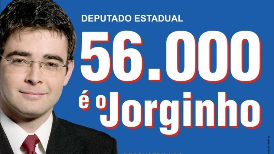 Banner da campanha eleitoral de Jorginho d'Orkut em 2006