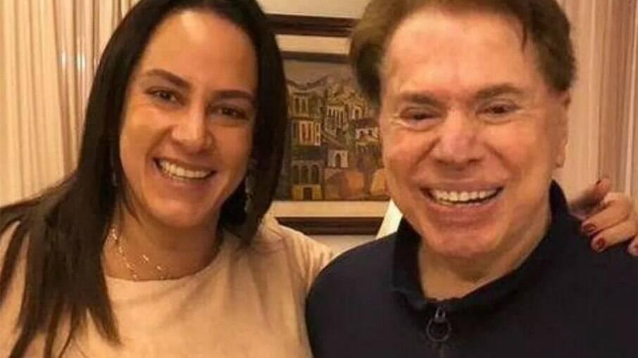 Silvio Santos e Silvia Abravanel