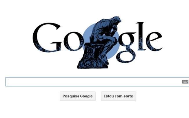 Google amanheceu com logotipo comemorativo do nascimento de Auguste Rodin