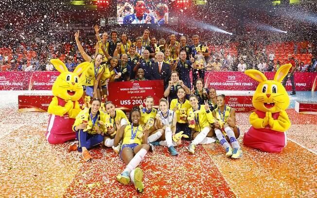 Vôlei feminino do Brasil é campeão do Grand Prix 2016