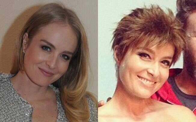 Antes e depois: Angélica usa peruca morena e curta