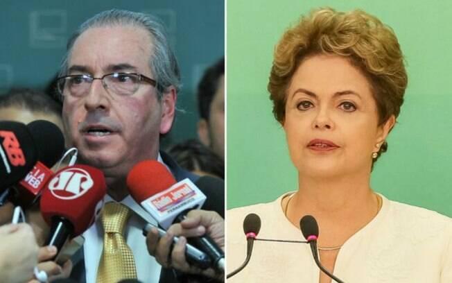 Inimigos: Cunha e Dilma partiram para o enfrentamento direto depois de o pedido de impeachment ser aceito pelo presidente da Câmara
