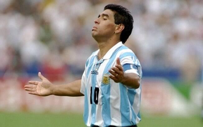 Partida contra a Nigéria, na terceira rodada  da fase de grupos de 1994, marcou o fim da  história de Maradona nas Copas