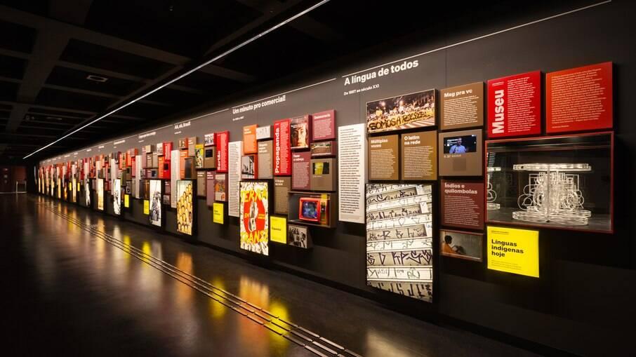 O Museu da Língua Portuguesa trará exposições de longa e curta duração