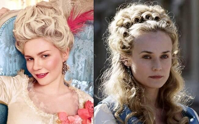 Kirsten Dunst e Diane Kruger: Maria Antonieta em momentos e adaptações diferentes