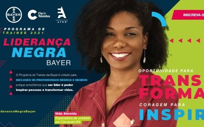 Bayer anuncia 19 vagas para trainee exclusivas para pessoas negras