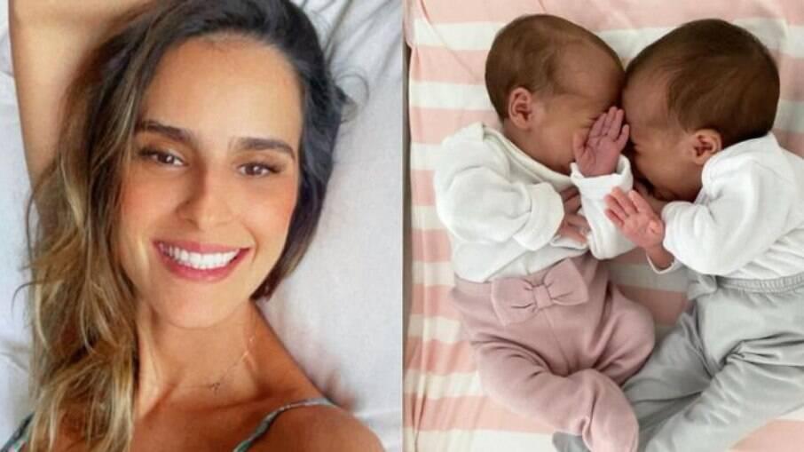 Esposa de Joaquim Lopes, ela comentou sobre confundir as pequenas