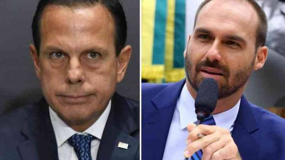 Governador de São Paulo João Doria e Deputado Federal Eduardo Bolsonaro