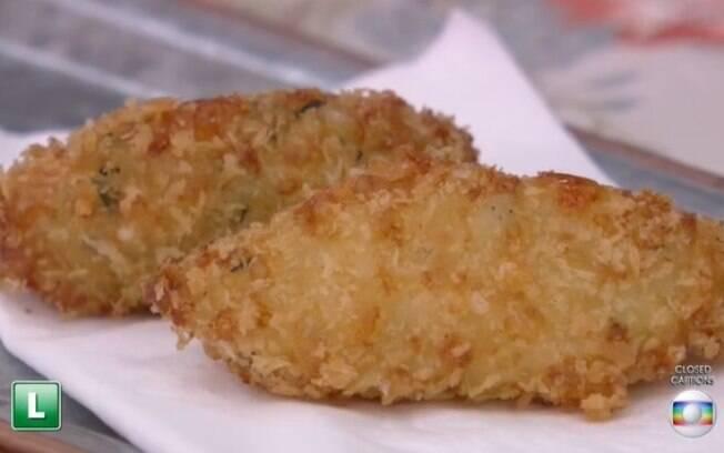Bolinho de arroz crocante de Ana Maria Braga