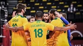 Brasil derrota EUA e fica perto das quartas no vôlei masculino