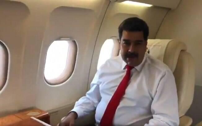 Nicolás Maduro viajou nesta quarta-feira a Nova York para participar da Assembleia Geral da ONU
