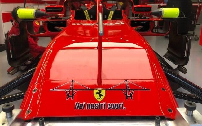 Ferrari estampará frase em homenagem às vítimas do desabamento da ponte em Gênova