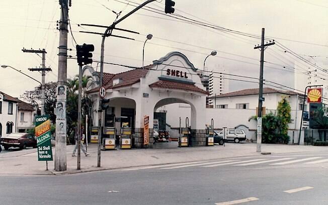 Foto de arquivo obtida por Cláudio mostra posto da Aclimação, provavelmente nos anos 80