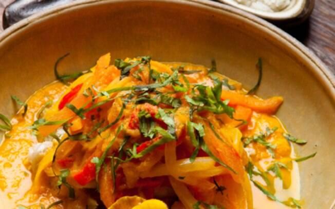 Foto da receita Moqueca de legumes pronta.