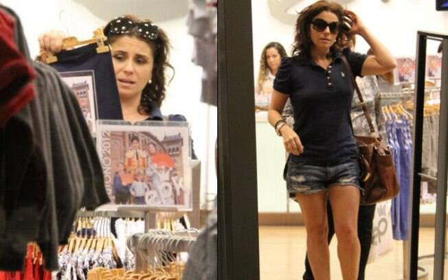 Giovanna Antonelli passeia em shopping