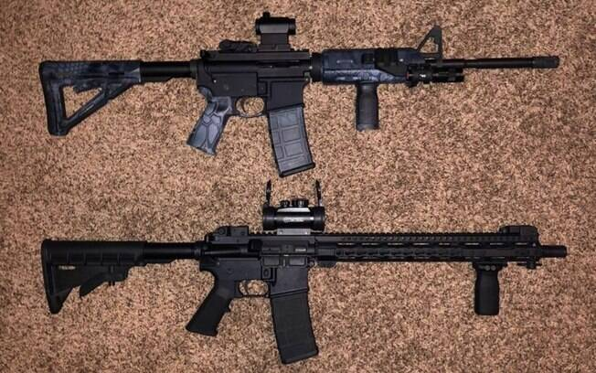 Suspeito postou foto de rifles uma semana antes de incidente