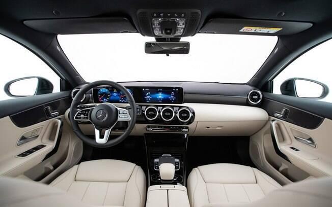 Mercedes-Benz Classe A: central multimídia e cluster se tornam um dispositivo só, eu uma larga tela sensível ao toque