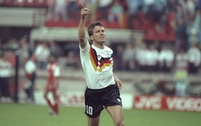 Lothar Matthaus ainda quando jogava pela seleção alemã