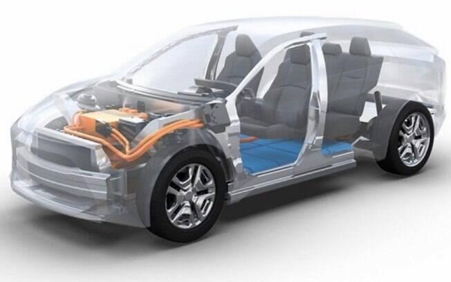 Toyota e Subaru divulgaram imagem do raio X do projeto conjunto de um SUV que será lançado pelas montadoras