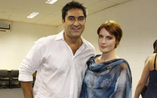 Zeca Camargo e Florence: jornalista