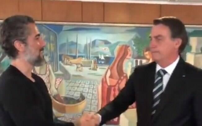 Marcos Mion e Bolsonaro