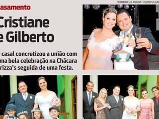 O casal concretizou a união com uma bela celebração na Chácara Brizza's seguida de uma festa.